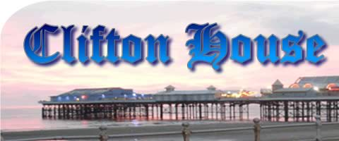 Clifton house Logo with seaside as background